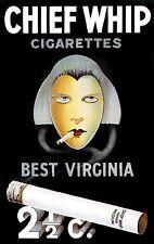 Chief Whip POSTER.Good Cigar and Bar Decor.Interior design.Art 156