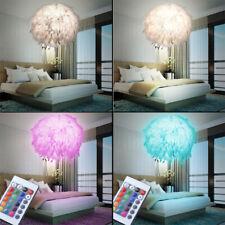 RGB LED Feder Pendel Lampe Fernbedienung  Wohn Raum Kugel Hänge Leuchte dimmbar
