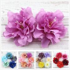 "8/12P 3"" Bulk Artificial Silk Fake Peony Flowers Floral Heads Wedding Home Decor"