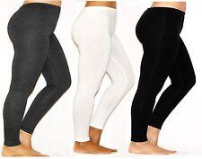 Women's Men's Leggings Long Tights Opaque Cotton Trousers Pants Laundry Plus