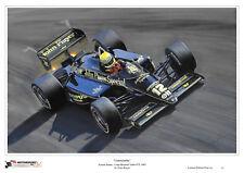 AYRTON SENNA Lotus Renault 97T Turbo 1985 Limited Edition art print