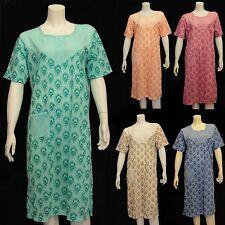 New Ladies Floral Print Short Sleeve Nightie Very Soft Night Dress Cotton Nighty