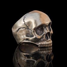 Handmade bronze mens biker skull ring inspired by Jimi Hendrix - Relic Series