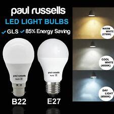 2/6/12 x Paul Russel 5W 7W 12W (40W/60W/100W) GLS BC B22 ES E27 Lampadine
