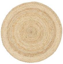 RUG ROUND NATURAL Circle Sand colour Jute Floor mat Carpet Organic *FREE POST*