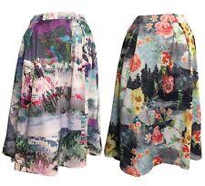 Womens Flared Skirt Summer Skirt Rockabilly Swing Midi Skirt Party Mini Dress