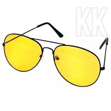Night Driving Glasses HD Anti Glare Vision Yellow Lens Tinted Pilot