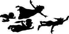 Finestra di visualizzazione parete PETER PAN & WENDY Flying Silhouette Decalcomania Adesivo Vinile