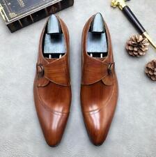 EU 43 elegant brown leather BZ150-D mens shoes SALVO BARONE 9