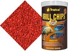 Tropical 40% Krill Crisps MARINE, CARNIVORE CICHLID, DISCUS FISH FOOD OMEGA-3