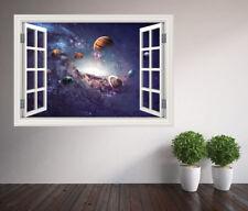 Stunning universe solar system stars space window wall sticker (50430104ww)