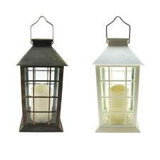 Antique LED Candle Solar Lantern, 10-3/4-Inch