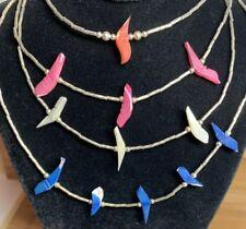 1970s Liquid Silver Fetish Birds Choker Necklace *MIX & MATCH ITEM* BUY 2 GET 1