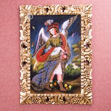 Painting on Wood Archangel Uriel - Sacred art - Catholic art - Cuzco school Peru