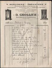 """SAINT-GERVAIS-les-TROIS-CLOCHERS (86) MENUISIER EBENISTE """"D. GROLLIER"""" en 1934"""
