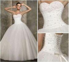 robe de mariée organza New blanc/ivoire wedding evening dress 34/36/38/40/42/44