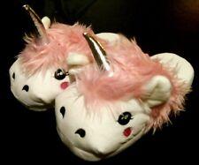 Size 4 5 Fantasy White Unicorn Slippers Adult Plush Soft Indoor Slippers Fluff