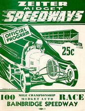 188831 1946 Zeiter Midget Championship Race Bainbridge Print Poster Affiche