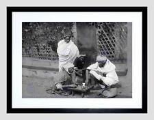 Échecs en algérie vintage history old bw noir encadré art imprimé photo B12X2418