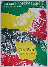 Jan Voss Affiche Originale Lithographie figuration Narrative Art Abstrait