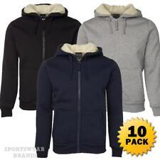 10 x Mens Shepherd Hoodie Jacket Hooded Contrast Fleece Size S-5XL Winter 3SH