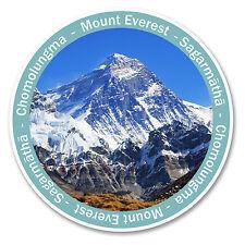 2 x 10cm Mount Everest Sticker Car Laptop Travel Luggage Mountain Tag Gift #6138
