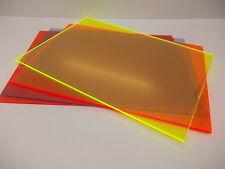 3 mm FLUORESCENTE PERSPEX ACRILICO DI CAST, segni Taglia A5-A4-A3 - visualizza i modelli -