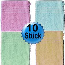 10 Stück Waschhandschuh, Waschlappen, 15x21 cm, uni Frottier, Baumwolle frei Ha