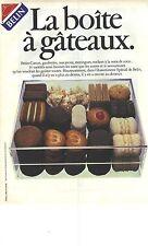"""PUBLICITE ADVERTISING  1984   BELIN biscuits gateaux """"  la boite à gateaux """""""