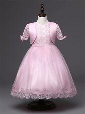 Georgia Pink Girl Dress & Bolero Set Christening Wedding Party Gown Bridesmaid