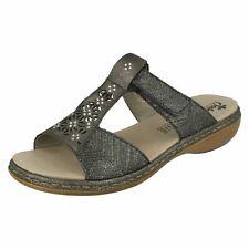 Rieker 65950 donna open toe strass spiaggia estiva Sabot basse sandali SLIP-ON