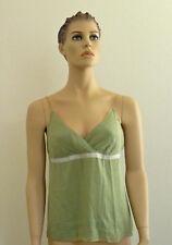 Lara Silk Theory Flutter Green Cami Top NWT Medium Large
