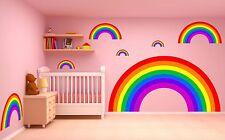 RAINBOWS WALL STICKER KIT nursery decal car art vinyl 2 sizes
