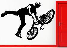 Wall Stickers Vinyl Decal BMX Bike Biker Bicycle Extreme Sport Decor (z2312)