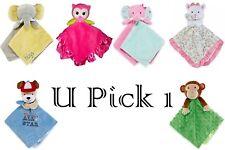 Cuddly Plush Security Blanket Baby Boys Girls Stuffed Animal 1st Snuggle Toy