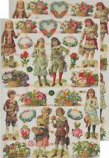 Chromo EF Découpis Victorien 7368 Embossed Illustrations Victorian children