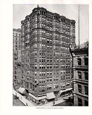 Película para impresión 1898 Chicago ~ Tacoma edificio ~ la Salle & Madison calles