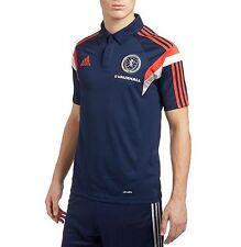 Genuine adidas Men's Scotland 2014/15 Training Climalite Polo Shirt, Navy