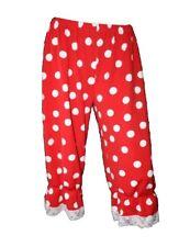 Unisex Rojo y Blanco Lunares Long 3/4 bombachos Pantalones Disfraz de Halloween