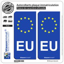 2 Autocollant plaque immatriculation EU Union Européenne - Identifiant Européen