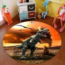 3D Dinosaure 12 Étage Antidérapant Natte Rond Élégant Tapis FR Summer