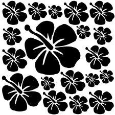Sticker Planche Fleurs d'Hibiscus 20x20cm à 30x30cm, 18 coloris (FLEUR021)