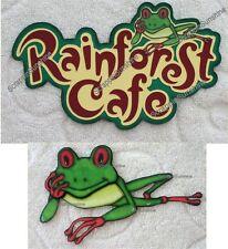 DISNEY RAINFOREST CAFE Die Cut Title or Scrapbook Printed Paper Piece - SSFFDeb