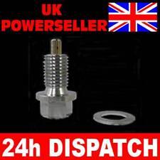 Bmw 4 6 8 Cilindro Magnético cárter de aceite del tapón de drenaje de Plata