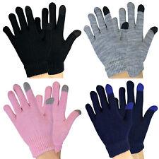 KIds Boys / Girls Knitted Thermal Winter Lightweight Magic Touchscreen Gloves