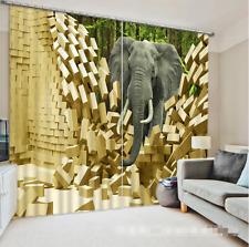 3D Elephant 732 Blockout Photo Curtain Printing Curtains Drapes Fabric Window AU