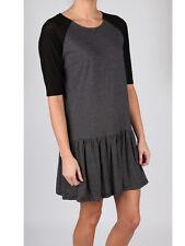 Minkpink Black Grey Stripe Sheer Sleeve Frill Mini Beach Sundress