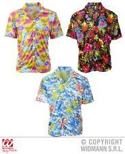 Chemise hawaïenne, Chemise hawaïenne multicolore, fleurs, Plage, M/L U. XL
