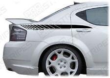 Dodge Avenger 2008-2014 Rear Quarter Side Stripes Decals (Choose Color)