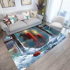 3D Christmas Xmas Candle 200 Non Slip Rug Mat Room Mat Quality Elegant Carpet AU